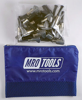 MRO TOOLS KSG3S25 Cleco Side-Grip Clamps 25 Piece Kit w/ Carry Bag, 3/4 x 1/2