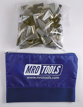 MRO TOOLS KSG4S25 Cleco Side-Grip Clamps 25 Piece Kit w/ Carry Bag, 3/4 x 1