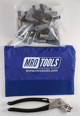 MRO TOOLS KSG4S25P Cleco Side-Grip Clamps 25 Piece Kit w/ Cleco Pliers & Carry Bag, 3/4 x 1