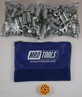 MRO TOOLS KWN1S100-3/32 Standard Wing-Nut Cleco Fasteners 100 Piece Kit w/ HBHT Tool & Carry Bag