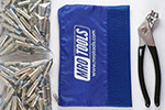 MRO TOOLS K1S300-3/16 Standard Plier Operated Cleco Fasteners 300 Piece Kit w/ Cleco Pliers & Carry Bag