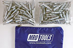 MRO TOOLS K2S300-3/32 Standard Plier Operated Cleco Fasteners 300 Piece Kit w/ Carry Bag