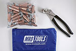 MRO TOOLS K1S100-1/4 Standard Plier Operated Cleco Fasteners 100 Piece Kit w/ Cleco Pliers & Carry Bag