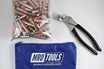 K1S50-1/8 Cleco Kit of 50 1/8 Standard Plier Operated Cleco Fasteners + Cleco Pliers w/ Polyester Carry Bag