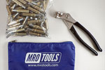 MRO TOOLS K1S50-3/16 Standard Plier Operated Cleco Fasteners 50 Piece Kit w/ Cleco Pliers & Carry Bag