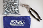 MRO TOOLS K1S100-3/32 Standard Plier Operated Cleco Fasteners 100 Piece Kit w/ Cleco Pliers & Carry Bag