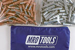 MRO TOOLS K3S100-3 Standard 50 1/8'' & 50 3/32'' Cleco Fasteners Kit w/ Carry Bag