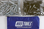 MRO TOOLS K3S100-6 Standard 50 5/32'' & 50 3/32'' Cleco Fasteners Kit w/ Carry Bag