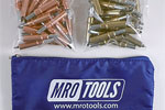 MRO TOOLS K3S50-1 Standard 25 1/8'' & 25 3/16'' Cleco Fasteners Kit w/ Carry Bag