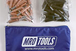 MRO TOOLS K3S50-2 Standard 25 1/8'' & 25 5/32'' Cleco Fasteners Kit w/ Carry Bag