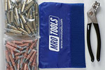 MRO TOOLS K4S100-1 Standard 50 1/8'' & 50 3/16'' Cleco Fasteners Kit w/ Carry Bag