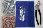 MRO TOOLS K4S100-3 Standard 50 1/8'' & 50 3/32'' Cleco Fasteners Kit w/ Carry Bag