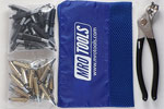 K4S50-4 Set of 25 3/16'' & 25 5/32'' Standard Cleco Fasteners w/ Mesh Carry Bag