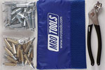 K4S50-5 Set of 25 3/16'' & 25 3/32'' Standard Cleco Fasteners w/ Mesh Carry Bag