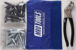 K4S50-6 Set of 25 5/32'' & 25 3/32'' Standard Cleco Fasteners w/ Mesh Carry Bag