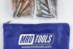 MRO TOOLS KHD3S50-3 Heavy Duty 25 1/8'' & 25 3/32'' Cleco Fasteners Kit w/ Carry Bag
