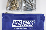 MRO TOOLS KHD3S50-5 Heavy Duty 25 3/16'' & 25 3/32'' Cleco Fasteners Kit w/ Carry Bag