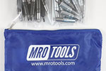MRO TOOLS KHD3S50-6 Heavy Duty 25 5/32'' & 25 3/32'' Cleco Fasteners Kit w/ Carry Bag