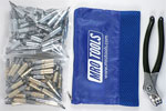 MRO TOOLS KHD4S100-5 Heavy Duty 50 3/16'' & 50 3/32'' Cleco Fasteners Kit w/ Carry Bag