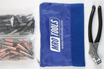 KHD4S50-2 Set of 25 1/8'' & 25 5/32'' Heavy Duty Cleco Fasteners w/ Mesh Carry Bag