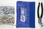 KHD4S50-5 Set of 25 3/16'' & 25 3/32'' Heavy Duty Cleco Fasteners w/ Mesh Carry Bag