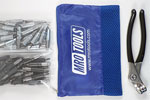 KHD4S50-6 Set of 25 5/32'' & 25 3/32'' Heavy Duty Cleco Fasteners w/ Mesh Carry Bag