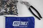 MRO TOOLS KK1S50-3/16 Extra Short Plier Operated Cleco Fasteners 50 Piece Kit w/ Cleco Pliers & Carry Bag