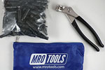 MRO TOOLS KK1S100-5/32 Extra Short Plier Operated Cleco Fasteners 100 Piece Kit w/ Cleco Pliers & Carry Bag