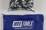 MRO TOOLS KK2S50-3/32 Extra Short Plier Operated Cleco Fasteners 50 Piece Kit w/ Carry Bag