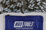 MRO TOOLS KK2S500-3/32 Extra Short Plier Operated Cleco Fasteners 500 Piece Kit w/ Carry Bag