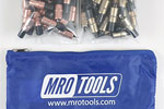 MRO TOOLS KK3S100-1 Extra Short 50 1/8'' & 50 3/16'' Cleco Fasteners Kit w/ Carry Bag