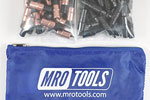 MRO TOOLS KK3S100-2 Extra Short 50 1/8'' & 50 5/32'' Cleco Fasteners Kit w/ Carry Bag