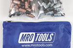 MRO TOOLS KK3S100-3 Extra Short 50 1/8'' & 50 3/32'' Cleco Fasteners Kit w/ Carry Bag