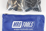 MRO TOOLS KK3S100-4 Extra Short 50 3/16'' & 50 5/32'' Cleco Fasteners Kit w/ Carry Bag