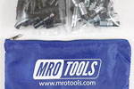 MRO TOOLS KK3S100-6 Extra Short 50 5/32'' & 50 3/32'' Cleco Fasteners Kit w/ Carry Bag