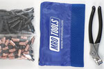MRO TOOLS KK4S100-2 Extra Short 50 1/8'' & 50 5/32'' Cleco Fasteners Kit w/ Carry Bag