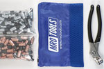 MRO TOOLS KK4S100-3 Extra Short 50 1/8'' & 50 3/32'' Cleco Fasteners Kit w/ Carry Bag