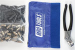 MRO TOOLS KK4S100-4 Extra Short 50 3/16'' & 50 5/32'' Cleco Fasteners Kit w/ Carry Bag