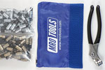 MRO TOOLS KK4S100-5 Extra Short 50 3/16'' & 50 3/32'' Cleco Fasteners Kit w/ Carry Bag
