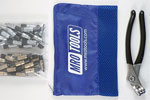 KK4S50-5 Set of 25 3/16'' & 25 3/32'' Extra Short Cleco Fasteners w/ Mesh Carry Bag