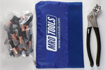 MRO TOOLS KSG1S25P Cleco Side-Grip Clamps 25 Piece Kit w/ Cleco Pliers & Carry Bag, 1/2 x 1/2