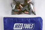 MRO TOOLS KSG2S25 Cleco Side-Grip Clamps 25 Piece Kit w/ Carry Bag, 1/2 x 1
