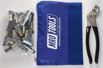 MRO TOOLS KSG3S25P Cleco Side-Grip Clamps 25 Piece Kit w/ Cleco Pliers & Carry Bag, 3/4 x 1/2