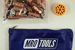 MRO TOOLS KWN1S25-1/8 Standard Wing-Nut Cleco Fasteners 25 Piece Kit w/ HBHT Tool & Carry Bag