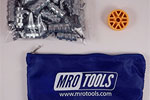 MRO TOOLS KWN1S25-3/32 Standard Wing-Nut Cleco Fasteners 25 Piece Kit w/ HBHT Tool & Carry Bag