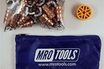 MRO TOOLS KWN1S50-1/8 Standard Wing-Nut Cleco Fasteners 50 Piece Kit w/ HBHT Tool & Carry Bag