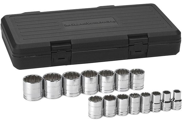 GearWrench 80704 10 Piece 1//2-Inch Drive 6 Point Deep Metric Socket Set