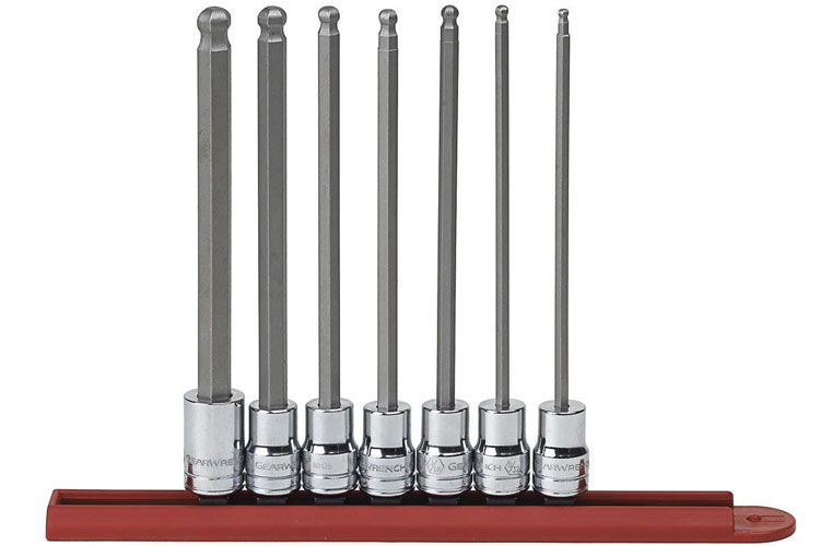 "10 Piece 3//8/"" and 1//4/"" Drive SAE Hex Bit Socket Set GearWrench KD 80579"