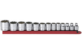 "80561 GearWrench 3/8"" Drive 12 Point SAE Standard 13 Piece Socket Set"