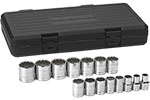 80731 GearWrench 1/2'' Drive 12 Point SAE 15 Piece Socket Set